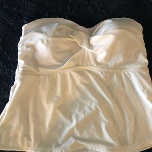 Pure White Tankini Top with Strapes.